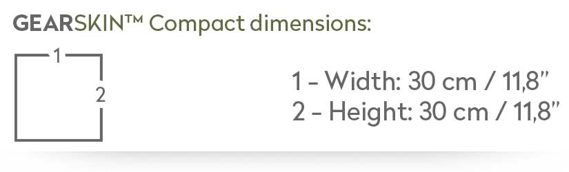 GEARSKIN™ Compact size