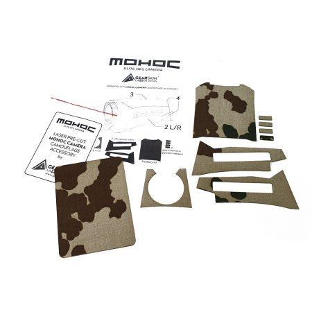 Mohoc camera Flecktarn 3 color DE precut skin